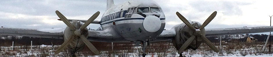 The last flyable IL-14P built in Dresden, Germany. Picture taken on Gorelovo airfield outside St. Petersburg on the 22. February 2016 (C) Eilif Monrad-Krohn